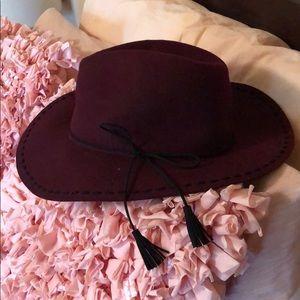 •NWT• Marron Wide Brim Hat